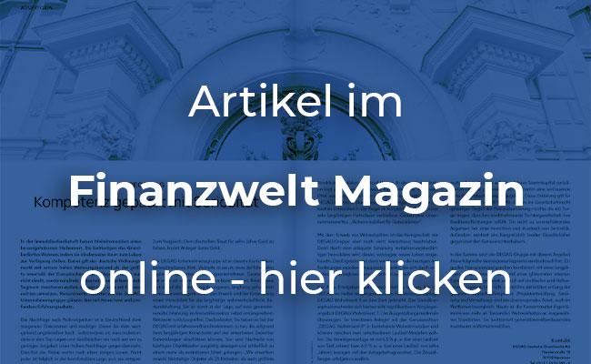 DEGAG WohnInvest 8 - Artikel in Finanzwelt online lesen